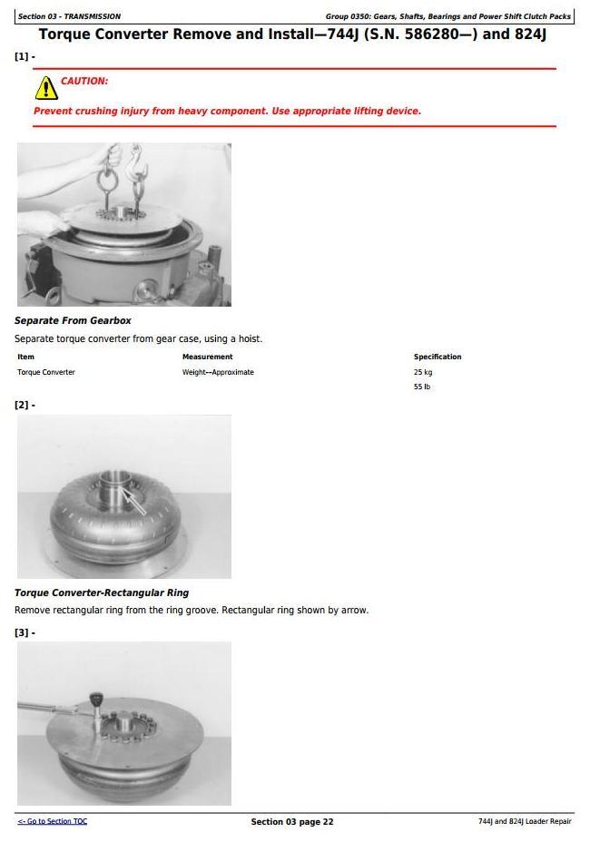 TM2084 - John Deere 744J and 824J 4WD Loader Service Repair Technical Manual - 1