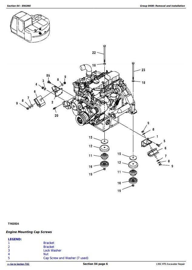 TM2094 - John Deere 135C RTS RTS Excavator Service Repair Manual - 1