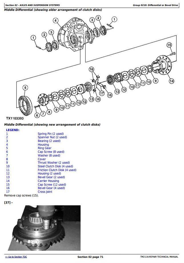 TM2116 - John Deere 250D, 300D Truck Articulated Dump XXXXXX-609165 Repair Technical Manual - 1