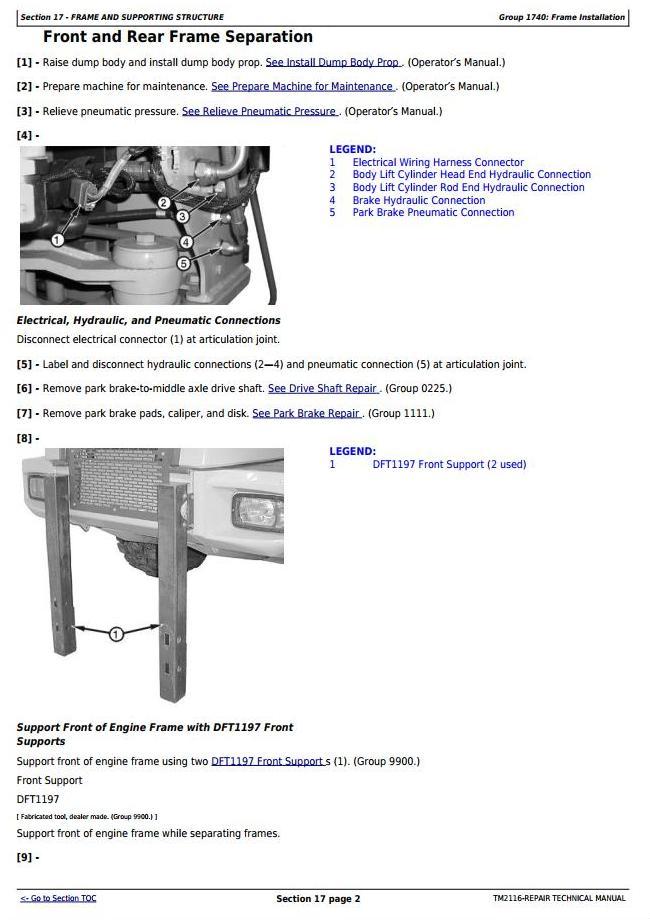 TM2116 - John Deere 250D, 300D Truck Articulated Dump XXXXXX-609165 Repair Technical Manual - 3