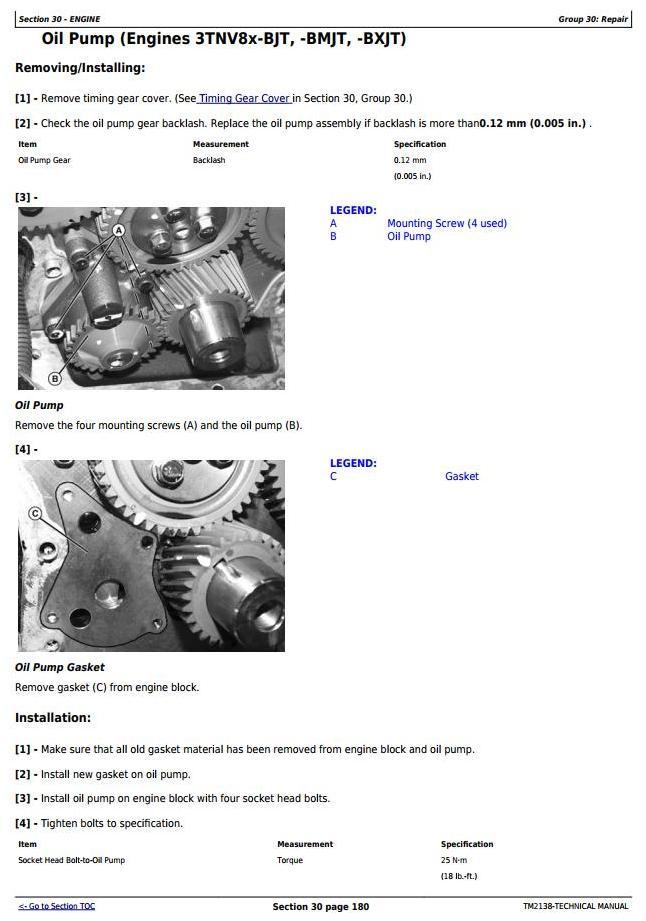 TM2138 - John Deere 3120, 3320, 3520, 3720 Compact Utility Tractors Diagnostic & Repair Technical Manual - 1