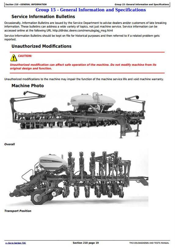 TM2159 - John Deere 1790 Front-Fold Planters (SN.705101–740100) Diagnostic and Tests Service Manual - 3