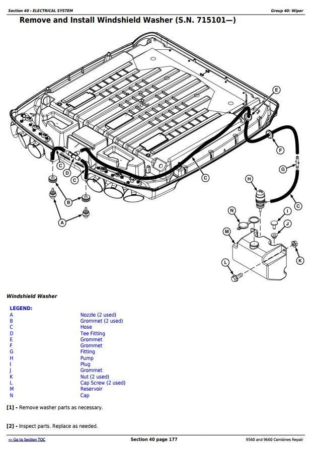 TM2161 - John Deere 9560 and 9660 Combines (SN. 705201-) Service Repair Technical Manual - 1