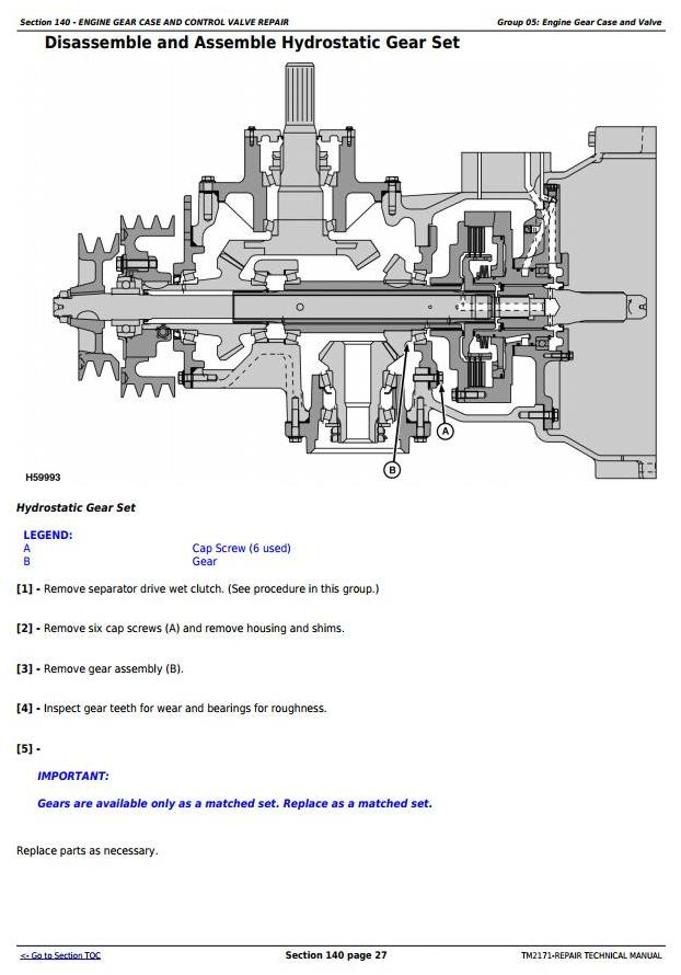 TM2171 - John Deere 9660 CTS Self-Propelled Combine (SN.from 705401) Service Repair Technical Manual - 2