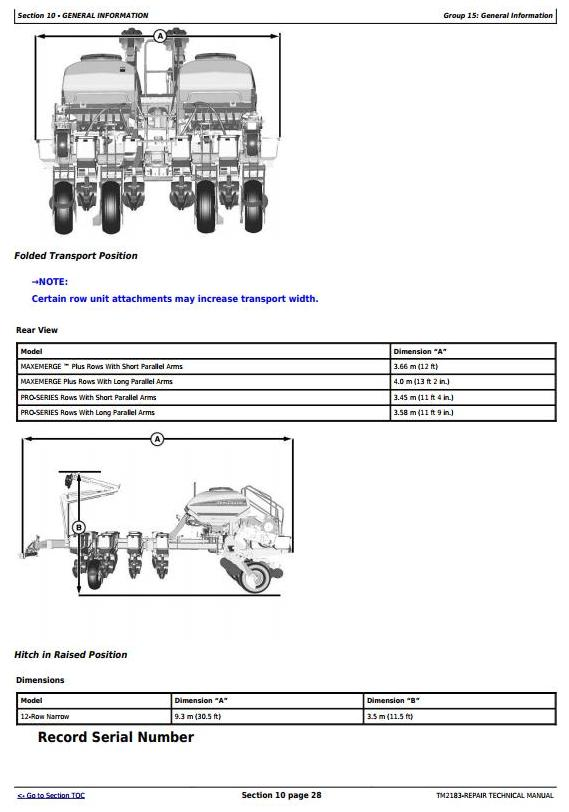 TM2183 - John Deere 1770NT, 1770NT CCS 12-Row Planter (SN.–740100) Service Repair Technical Manual - 3