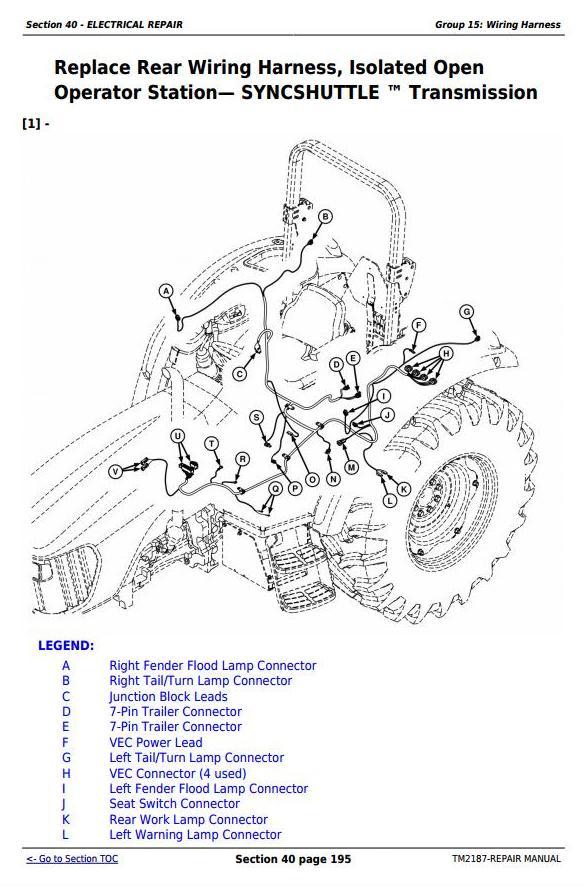 TM2187 - John Deere Tractors 5225, 5325, 5425, 5525, 5625, 5603 Service Repair Technical Manual - 2