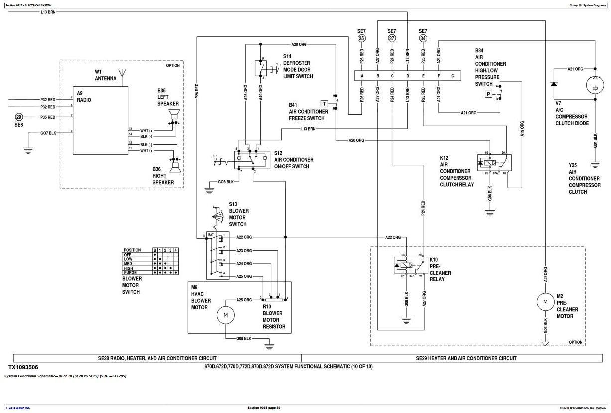 TM2246 - John Deere 670D, 672D, 770D, 772D, 870D, 872D Motor Grader Diagnostic & Test Service Manual - 1