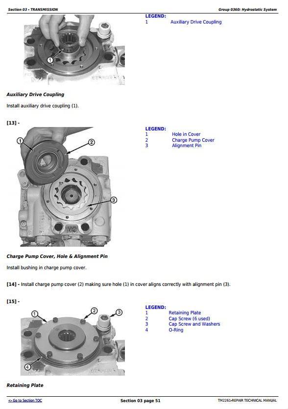 TM2261 - John Deere 750J (S.N. -141343) , 850J (S.N.-130885) Crawler Dozer Service Repair Manual - 1