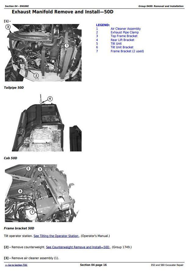 TM2264 - John Deere 35D and 50D Compact Excavator Service Repair Technical Manual - 1