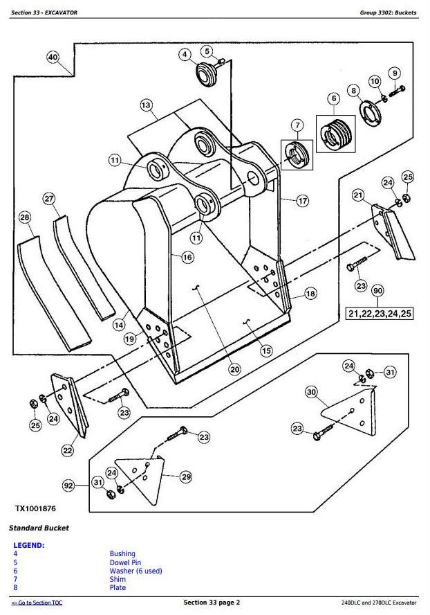 TM2323 - John Deere 240DLC and 270DLC Excavator Service Repair Manual Technical - 2