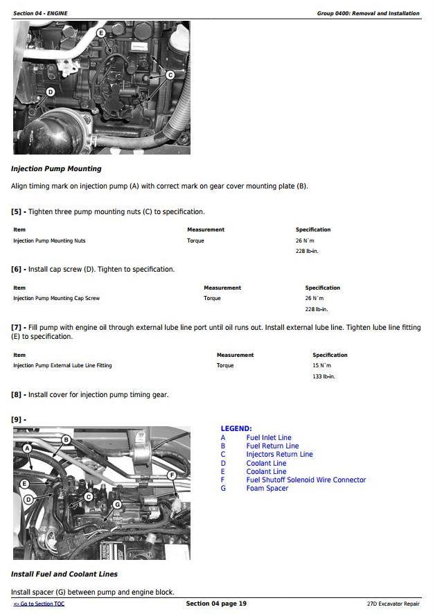 TM2356 - John Deere 27D Compact Excavator Service Repair Technical Manual - 1