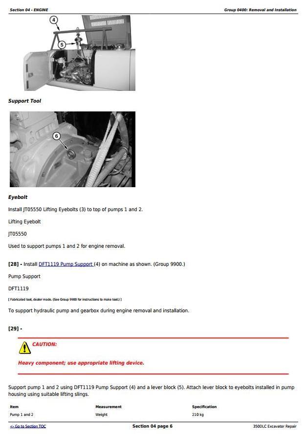 TM2360 - John Deere 350DLC Excavator Service Repair Technical Manual - 1
