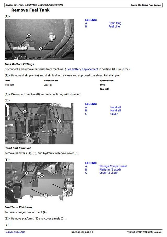 TM2368 - John Deere 4730 and 4830 Self-Propelled Sprayers Service Repair Technical Manual - 1