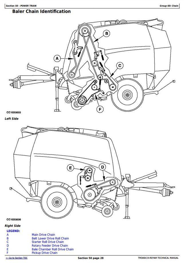 TM300419 - John Deere 960 and 990 Hay and Forage Round Baler Service Repair Technical Manual - 1