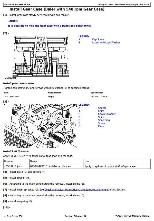 TM300919 - John Deere F440M, F440R Hay and Forage Round Baler Service Repair Technical Manual - 2