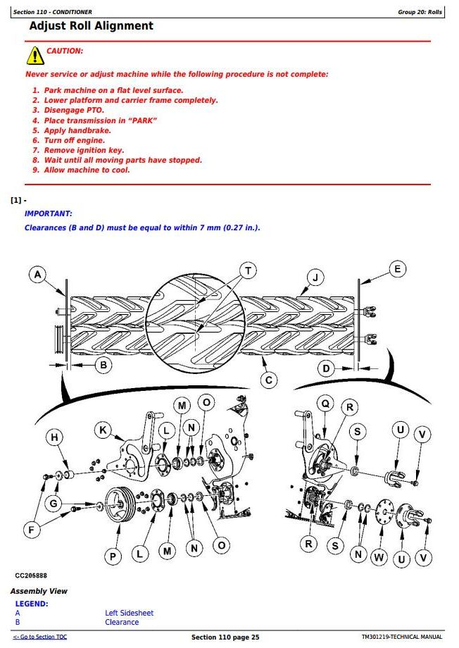 TM301219 - John Deere 630, 635 Hay & Forage Mower-Conditioner All Inclusive Technical Service Manual - 3