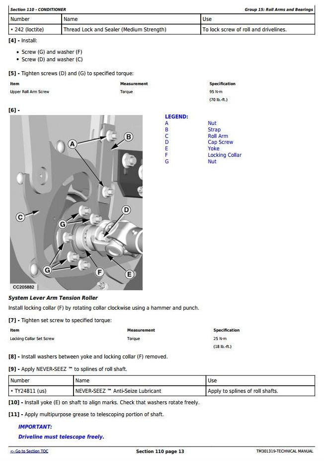 TM301319 - John Deere 830, 835 Forage Mower-Conditioner (Europe) All Inclusive Technical Service Manual - 3