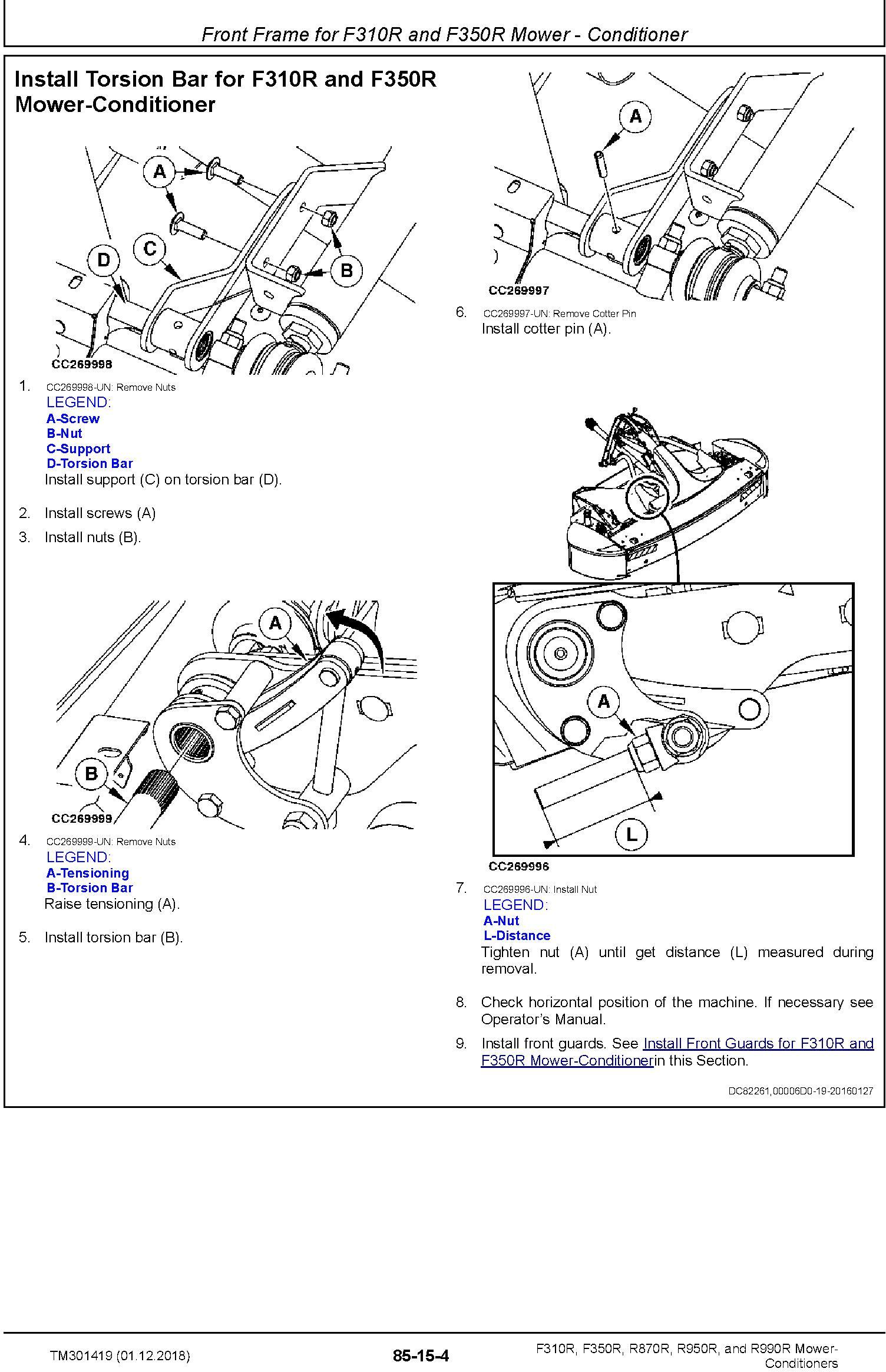 John Deere F310R, F350R, R870R, R950R and R990R Mower-Conditioners Technical Manual (TM301419) - 3