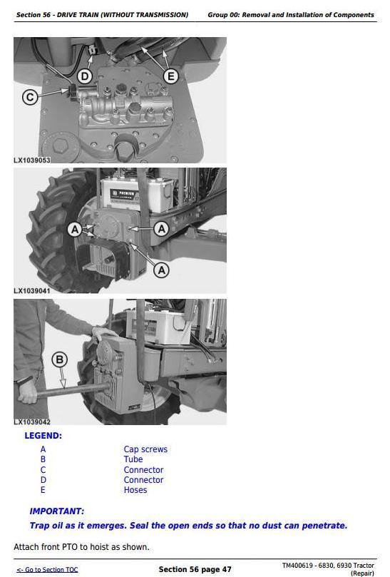 TM400619 - John Deere Tractors 6830, 6930 (European) Service Repair Technical Manual - 3