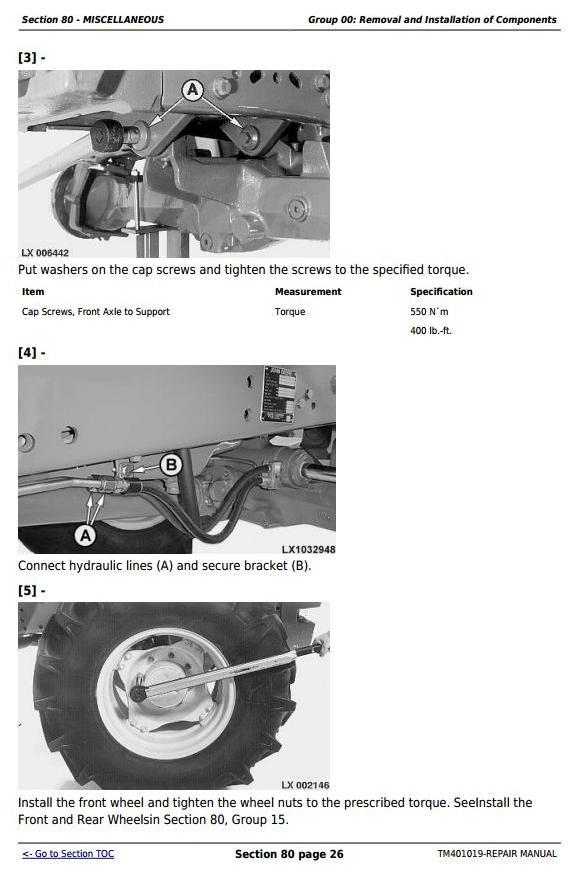 TM401019 - John Deere Tractors 6225, 6325, 6425, 6525 (European) Service Repair Technical Manual - 1