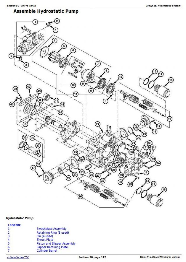 TM401519 - John Deere W540, W550, W650, W660, T550, T560, T660, T670, C670 Combines Service Repair Manual - 2