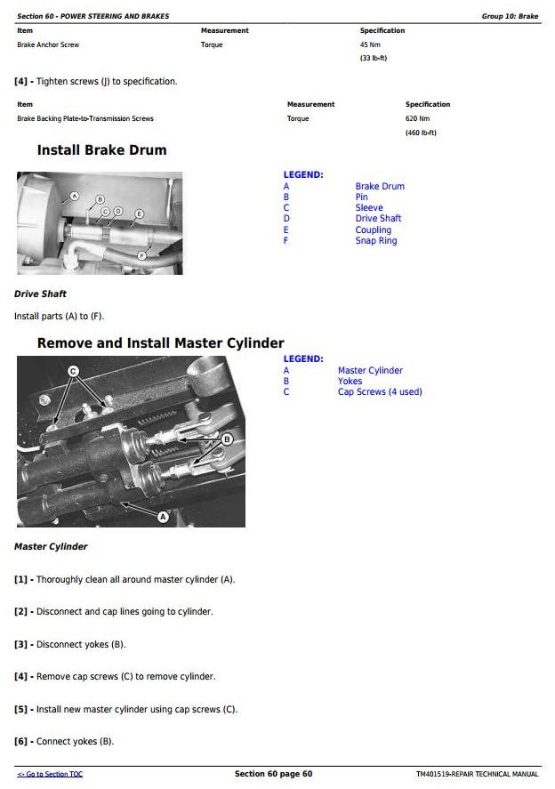 TM401519 - John Deere W540, W550, W650, W660, T550, T560, T660, T670, C670 Combines Service Repair Manual - 3
