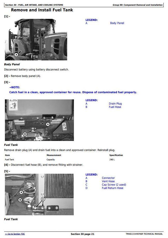 TM402219 - John Deere 5430i Demountable Self-Propelled Crop Sprayer Service Repair Technical Manual - 1