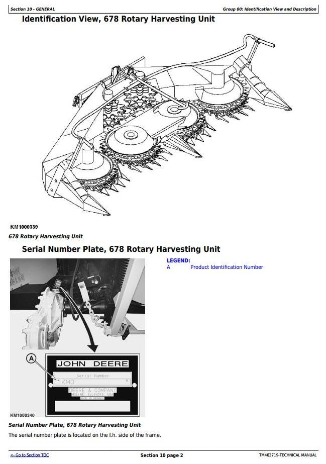 TM402719 - John Deere 678 Hay & Forage Rotary Harvesting Unit All Inclusive Technical Service Manual - 1