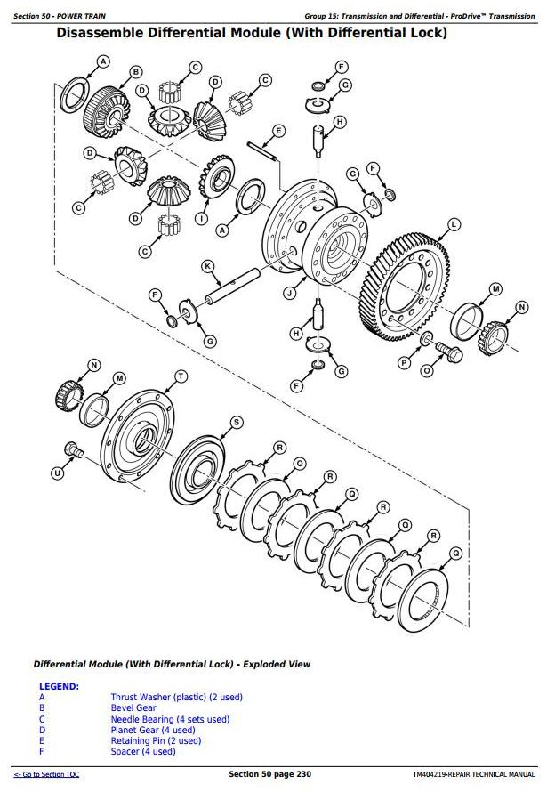 TM404219 - John Deere W540, W550, W650, W660, T550, T560, T660, T670 Combines Repair Technical Manual - 1