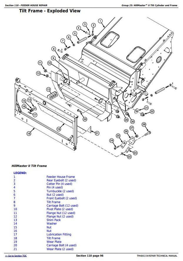 TM404219 - John Deere W540, W550, W650, W660, T550, T560, T660, T670 Combines Repair Technical Manual - 2