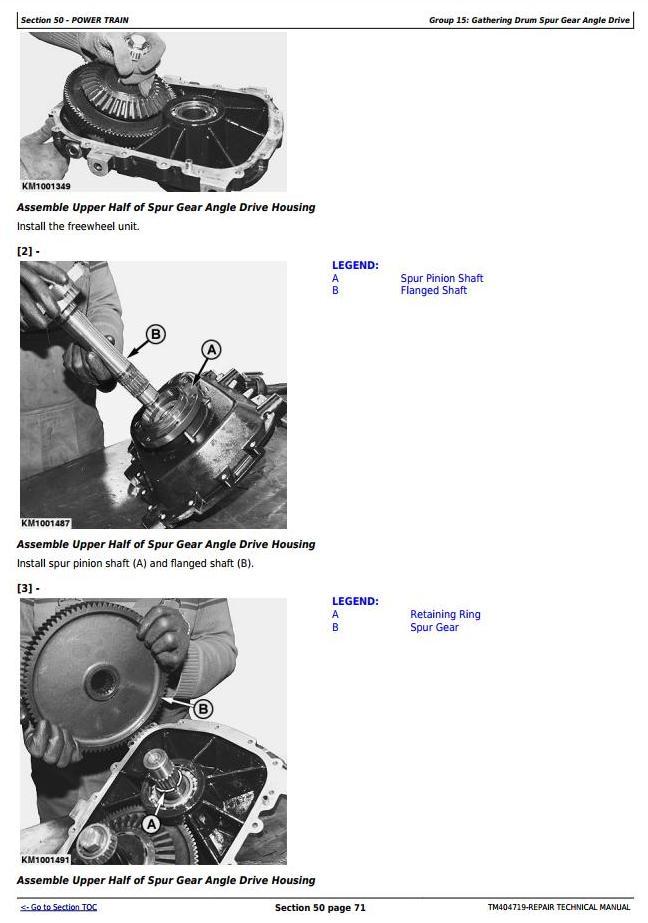 TM404719 - John Deere 345plus, 360plus, 375plus, 390plus Rotary Harvesting Unit Repair Service Manual - 2