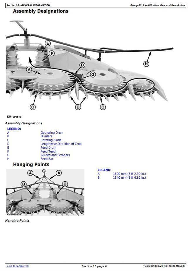 TM404919 - John Deere 770 Rotary Harvesting Unit (SN. 000000-125396) Service Repair Technical Manual - 1