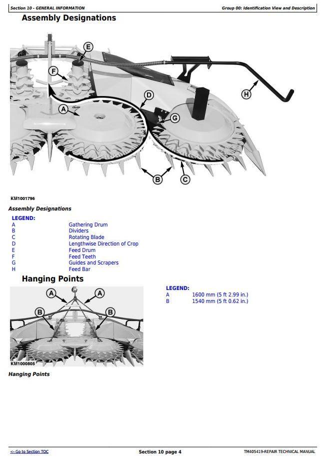 TM405419 - John Deere 778 Rotary Hay and Forage Harvesting Units Service Repair Technical Manual - 1