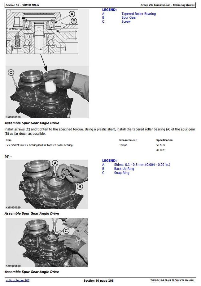 TM405419 - John Deere 778 Rotary Hay and Forage Harvesting Units Service Repair Technical Manual - 3