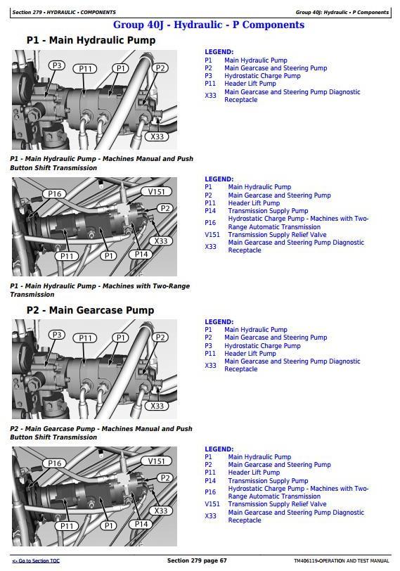 TM406119 - John Deere W540, W550, W650, W660, T550, T560, T660, T670 Combines (MY14) Diagnostic Manual - 1