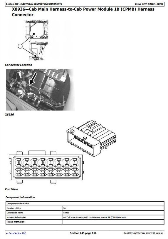TM406119 - John Deere W540, W550, W650, W660, T550, T560, T660, T670 Combines (MY14) Diagnostic Manual - 2