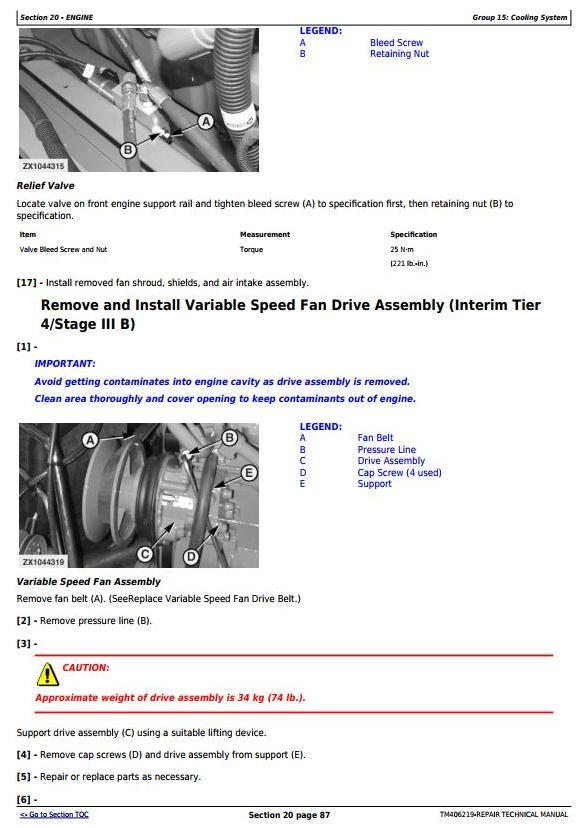 TM406219 - John Deere W540, W550, W650, W660,T550, T560, T660, T670 Combines (MY14) Repair Manual - 3