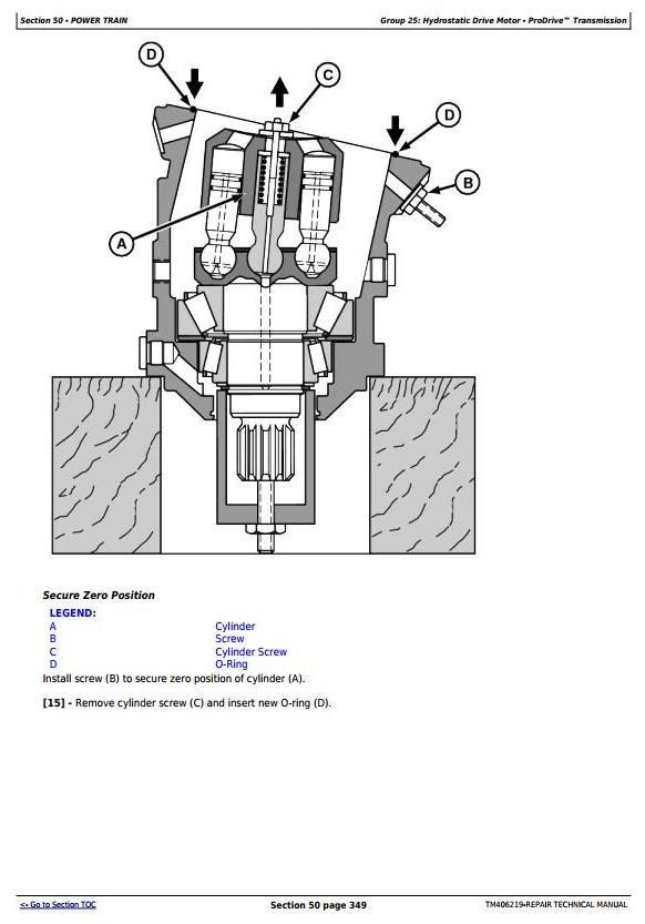 TM406219 - John Deere W540, W550, W650, W660,T550, T560, T660, T670 Combines (MY14) Repair Manual - 1