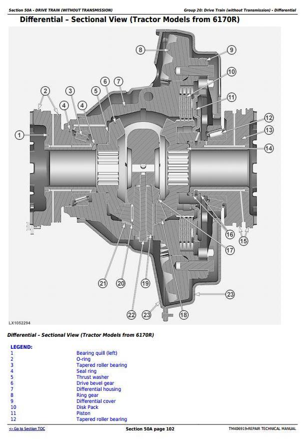 TM406919 - John Deere 6145R, 6155R, 6155RH, 6175R, 6195R, 6215R Tractors Repair Technical Manual - 2