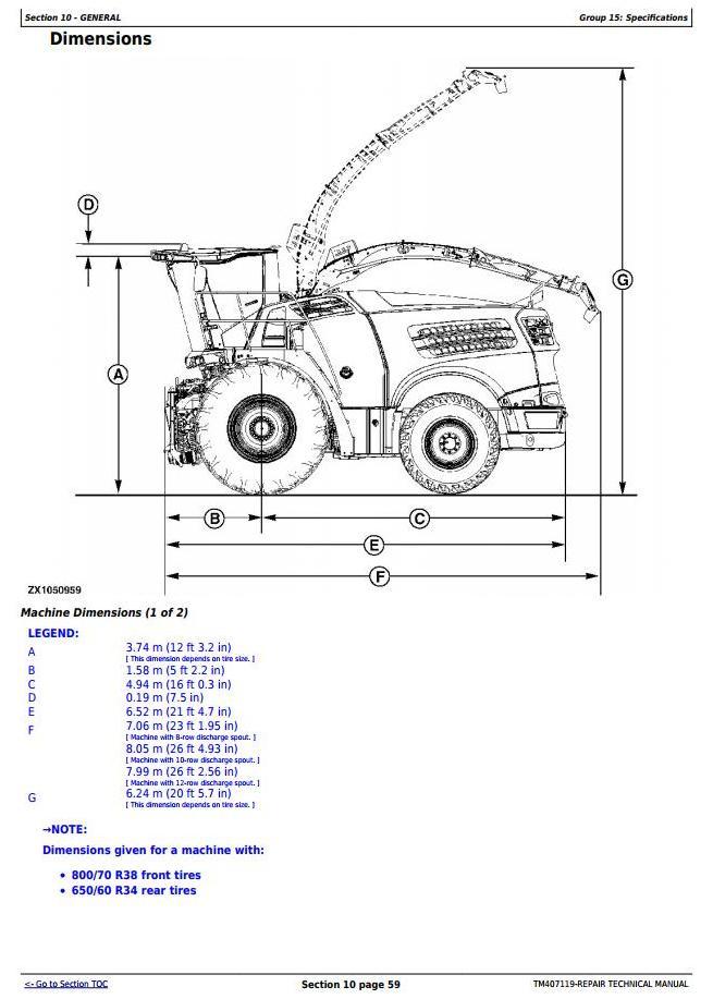 TM407119 - John Deere 8100, 8200, 8300, 8400, 8500, 8600, 8700, 8800 Forage Harvester Service Repair Manual - 1