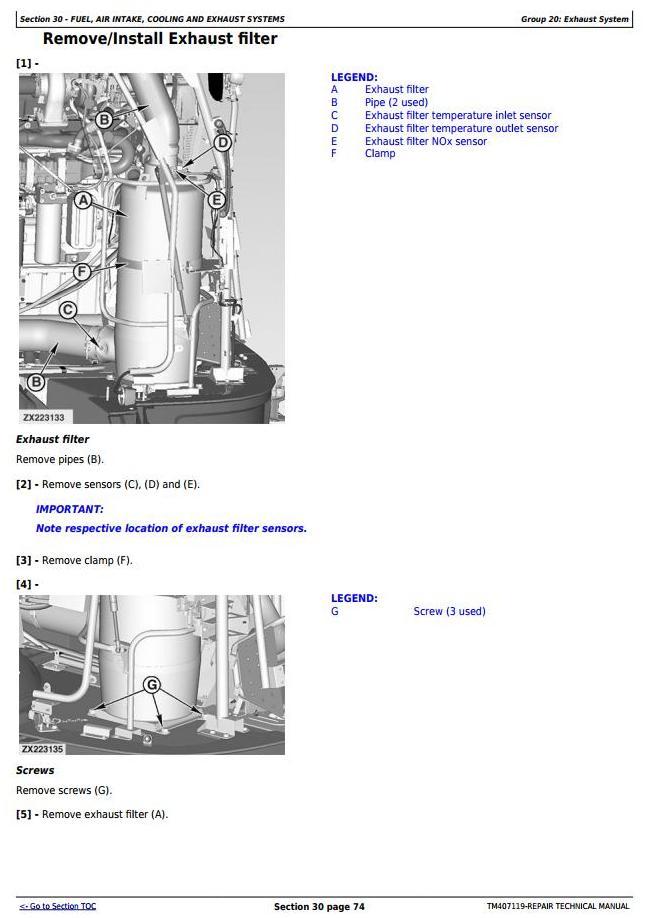 TM407119 - John Deere 8100, 8200, 8300, 8400, 8500, 8600, 8700, 8800 Forage Harvester Service Repair Manual - 2