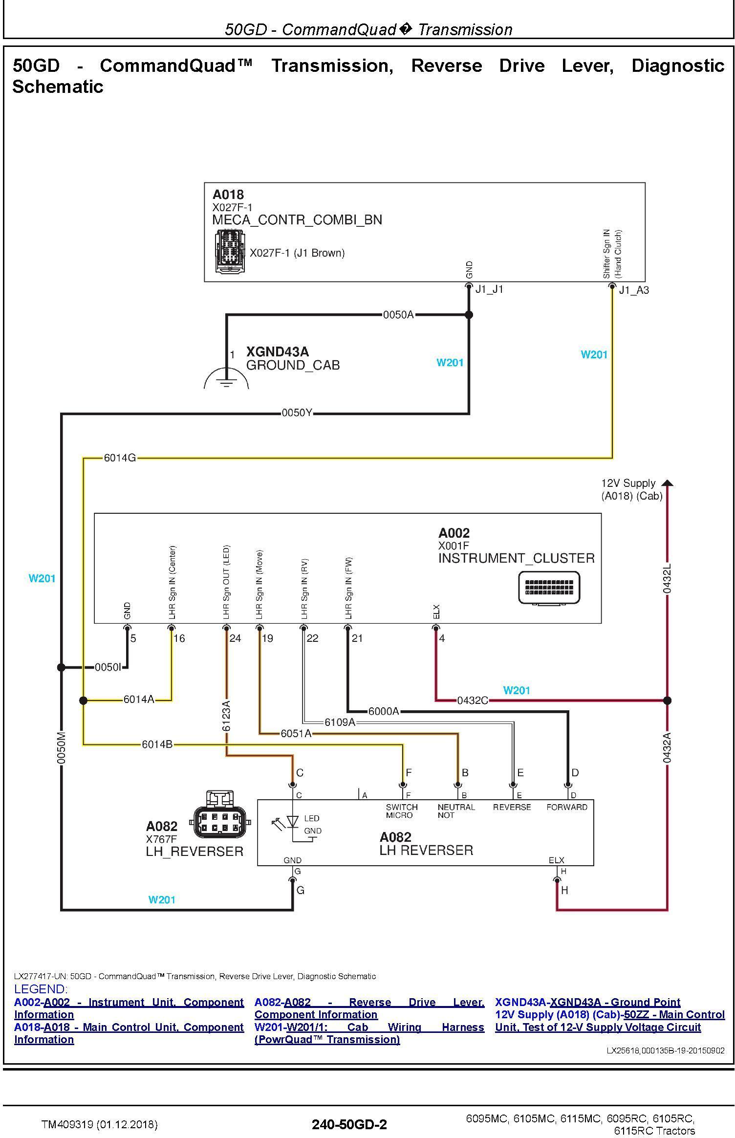 John Deere 6095MC 6105MC 6115MC 6095RC 6105RC 6115RC Tractors MY2016-17 Diagnostic Manual (TM409319) - 1
