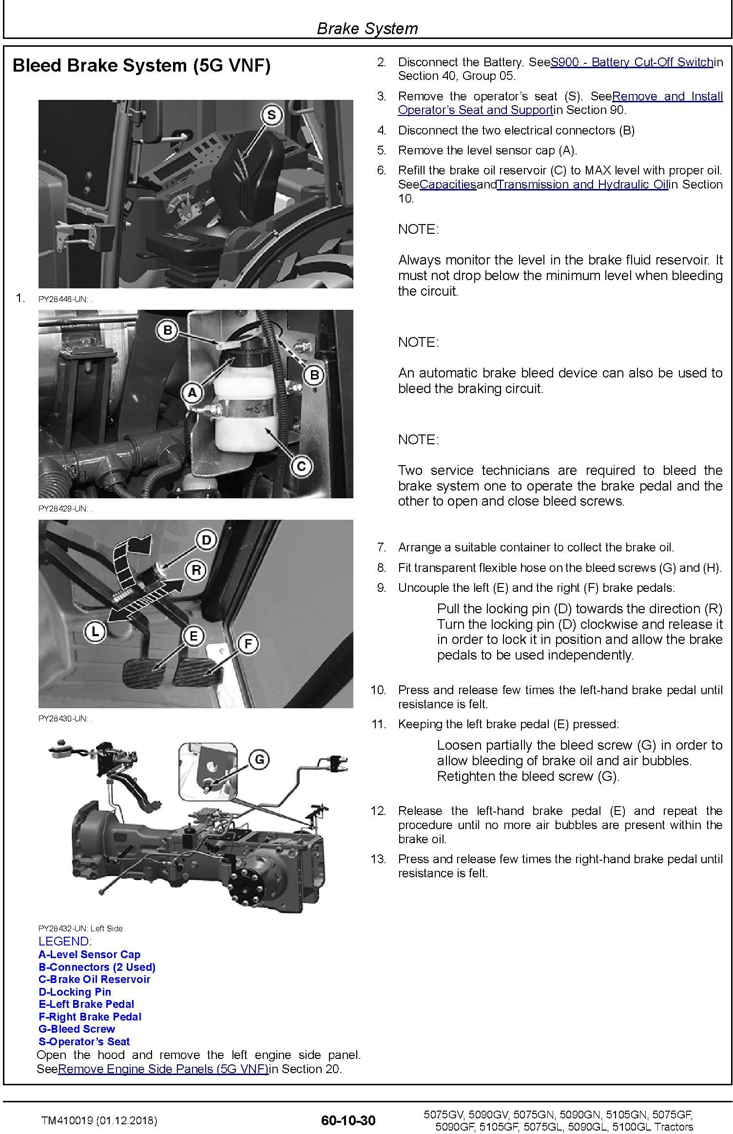 John Deere 5075GF/L/N/V, 5090GF/L/N/V, 5100GL, 5105GF/N Tractors Repair Technical Manual (TM410019) - 2