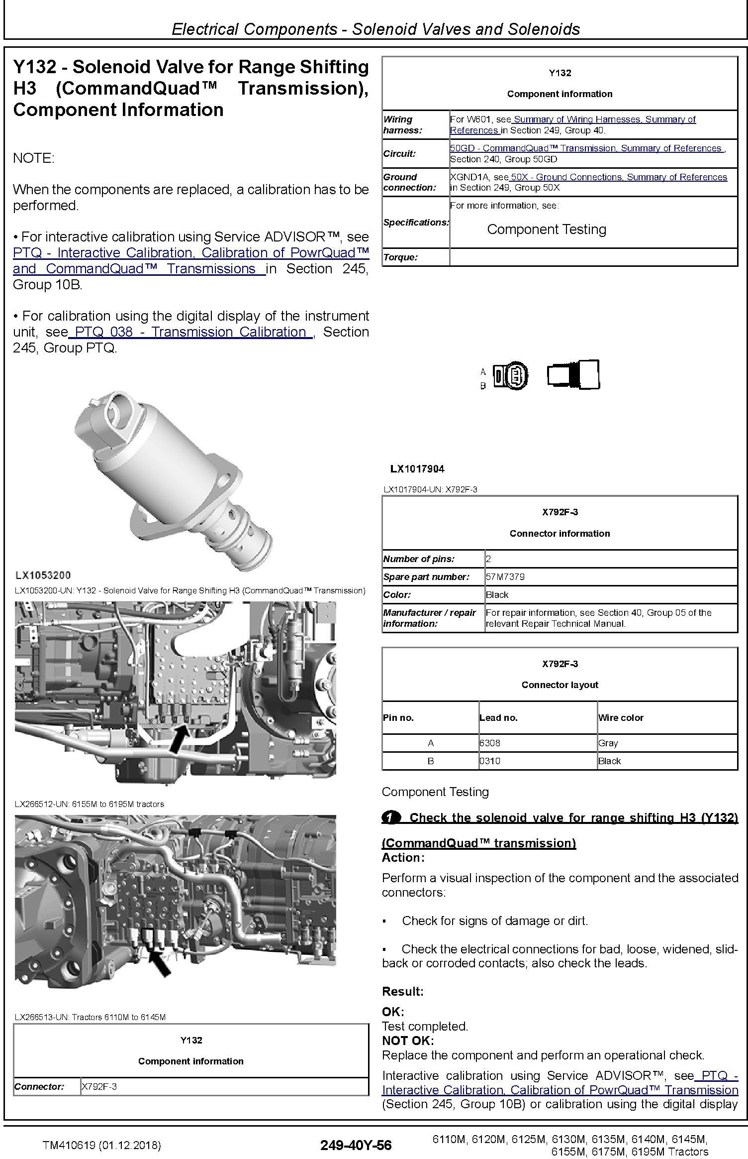 John Deere 6110M/20M 6130M/40M 6125M/35M 6145M/55M 6175M 6195M Tractors Diagnostic Manual (TM410619) - 1