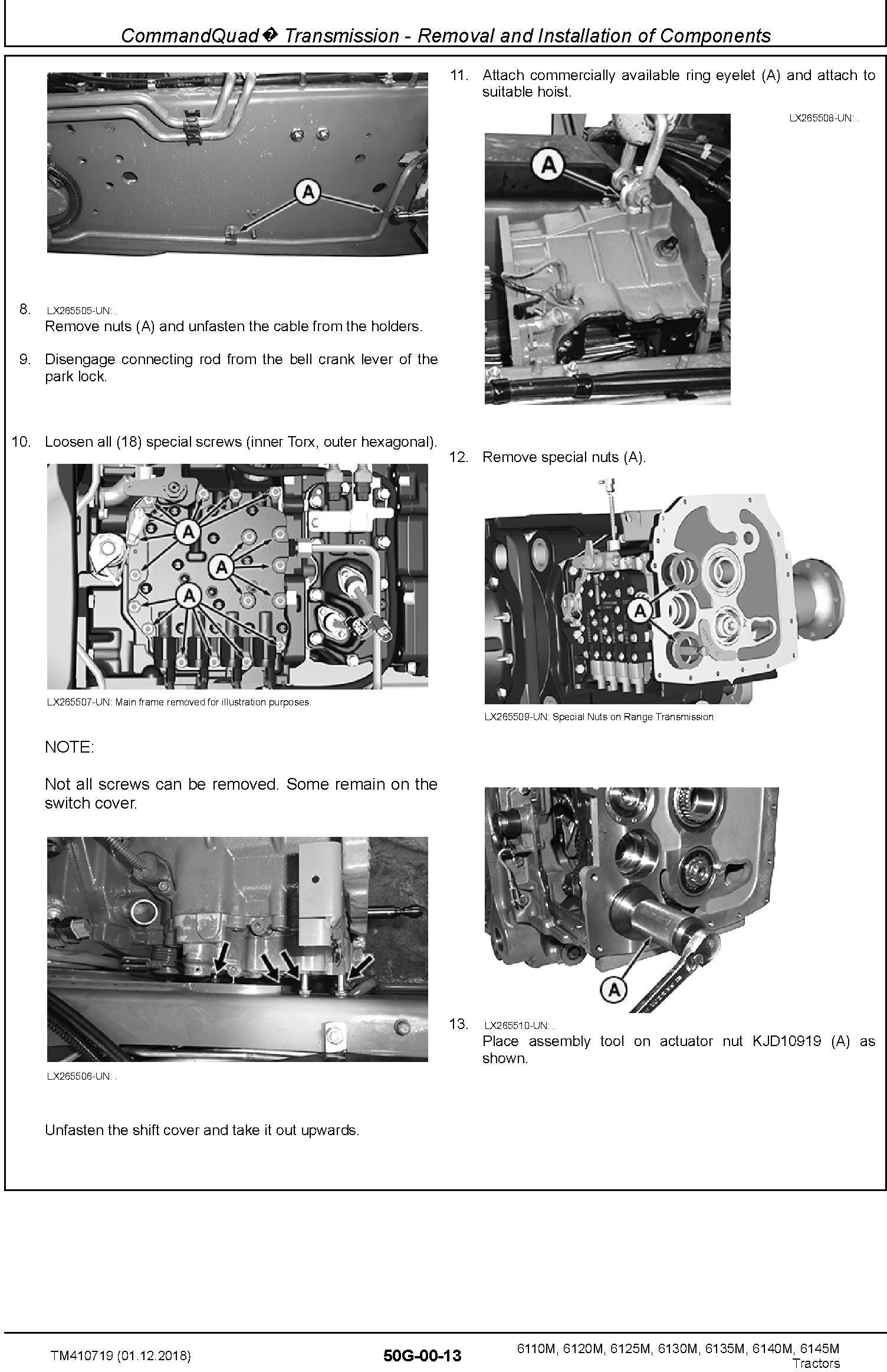 John Deere 6110M,6120M, 6125M, 6130M, 6135M, 6140M, 6145M Tractor Repair Technical Manual (TM410719) - 1