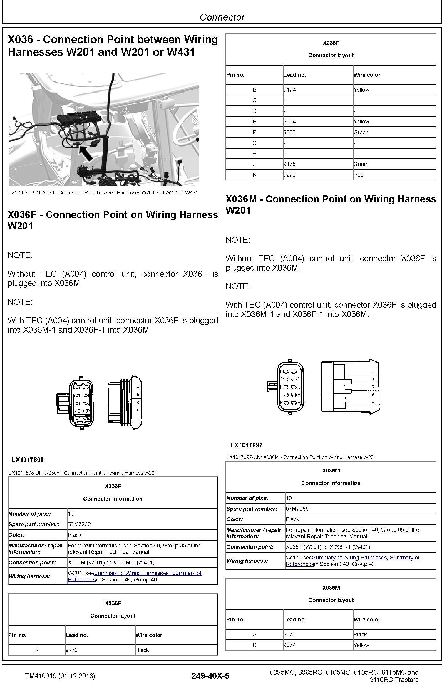 John Deere 6095MC 6095RC 6105MC 6105RC 6115MC 6115RC Tractors Diagnostic Technical Manual (TM410919) - 2