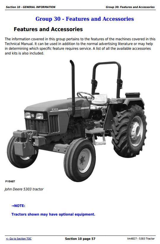TM4827 - John Deere Tractor 5303 All Inclusive Technical Diagnostic and Repair Service Manual - 3