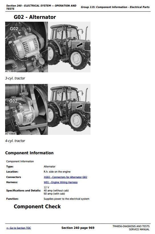 TM4856 - John Deere Tractors 5215, 5315, 5415, 5515 All Inclusive Diagnostic and Repair Service Manual - 2