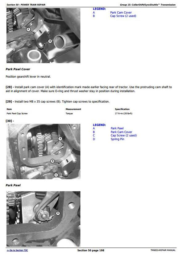 TM6032 - John Deere Tractors 5425, 5425HC, 5425N, 5625, 5625HC, 5725, 5725N Service Repair Technical Manual - 1