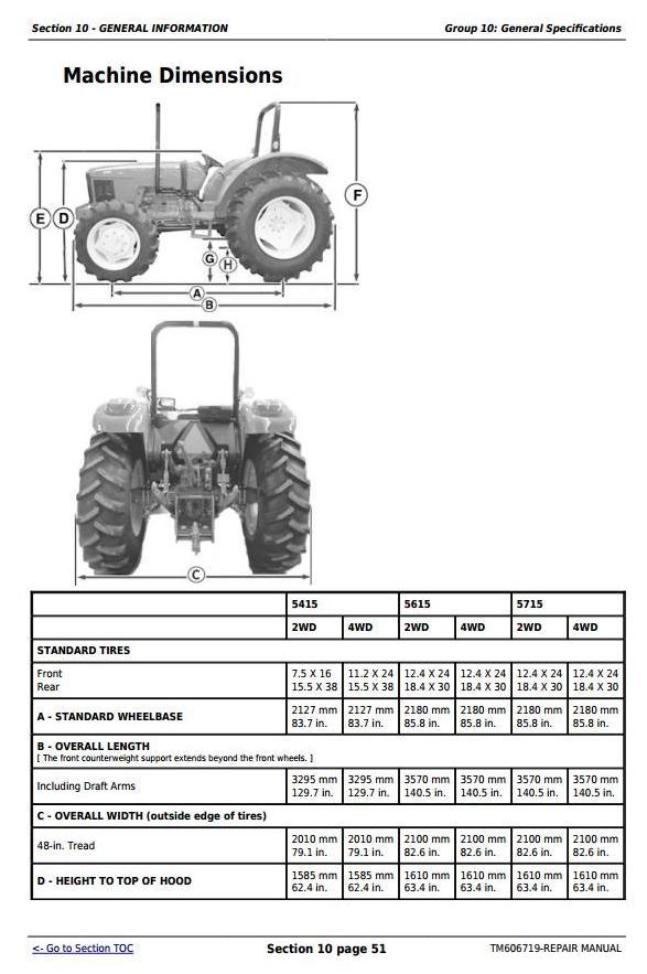 TM606719 - John Deere Tractors 5415, 5615, and 5715 Sevice Repair Technical Manual - 2
